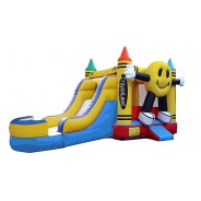 Happy Face Bounce Slide combo (Wet or Dry)