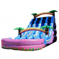 20ft Triple Lane Paradise Wet/Dry Slide