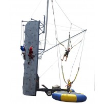 Rock Wall & Dual Bungee Trampolines