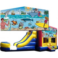 Seaside Bounce Slide combo (Wet or Dry)