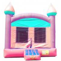 (A) Pink and Blue Castle Bounce House