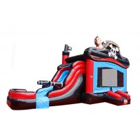 (B) Pirate Voyage Bounce Slide combo (Wet or Dry)