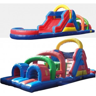 40ft Dry Obstacle Course w/12ft slide