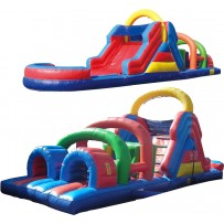 40ft Wet/Dry Obstacle Course w/12ft slide