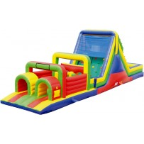 52ft Wet/Dry Obstacle Course w/16ft slide