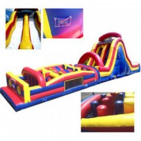 64ft Wet/Dry Rock Climb Obstacle w/16ft slide