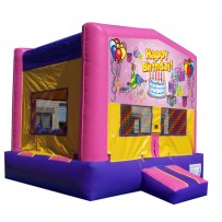 Happy Birthday Bounce House Pink