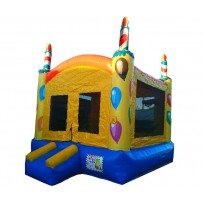 (B) Square Birthday Cake Bounce House