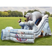 24ft Dual Lane Polar Bear Dry Slide