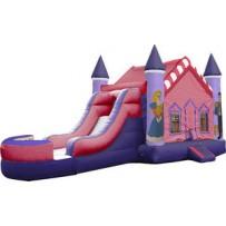 (A1) Princess Castle Bounce Slide combo (Wet or Dry)