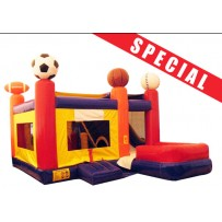 (A) Sports 7N1 Bounce Slide combo (Wet or Dry)