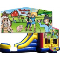 Western Fun Bounce Slide combo (Wet or Dry)